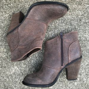 Jessica Simpson Leather Ankle Boots 7